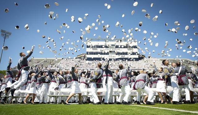 Graduation military west point, education.