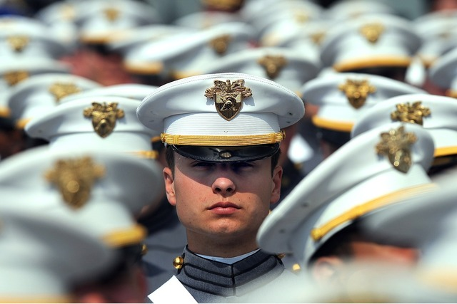 Graduation west point officers.