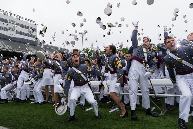 Graduation west point officers, emotions.