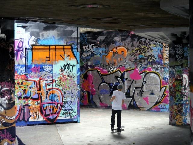 Graffiti art painted.