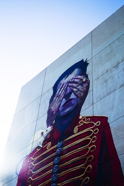 Graffiti painting wall, animals.