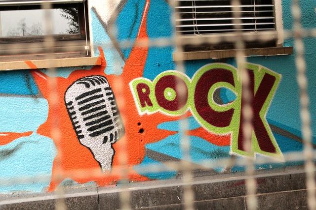 Graffiti rock hauswand, architecture buildings.