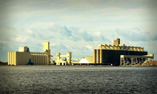 Grain elevators lake superior wisconsin, industry craft.