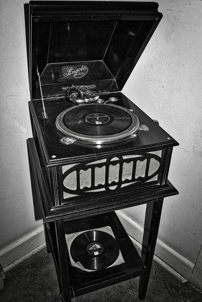 Gramophone record player old  - PICRYL Public Domain Image