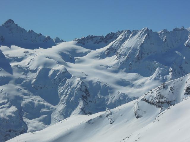 Gran paradiso mountains ski mountaineering.