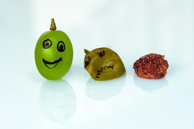 Grape raisin aging.