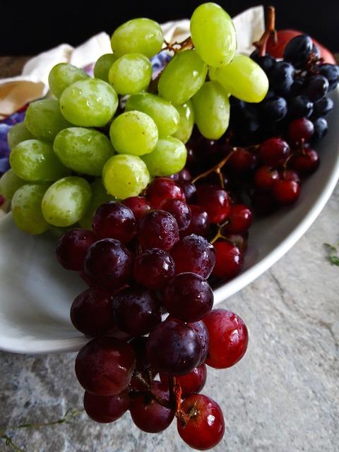 Grapes fruit fresh, food drink.