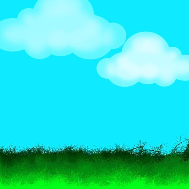 Grass sky clouds, backgrounds textures.