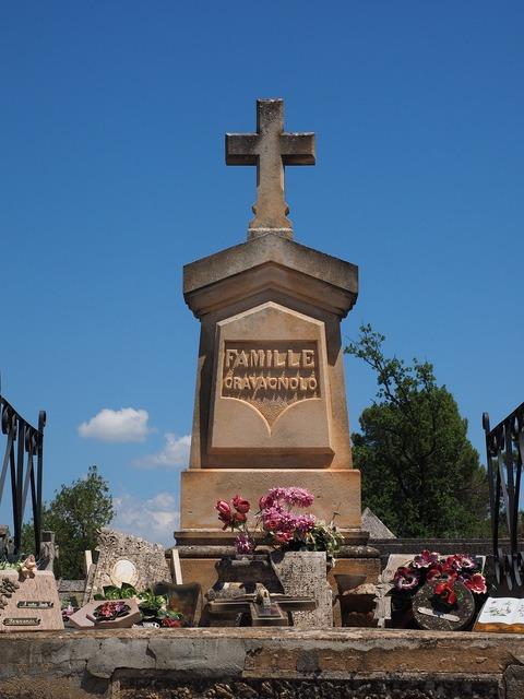 Grave cross cemetery, religion.