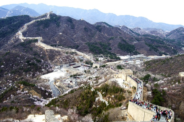 Great wall wonder of the world china.