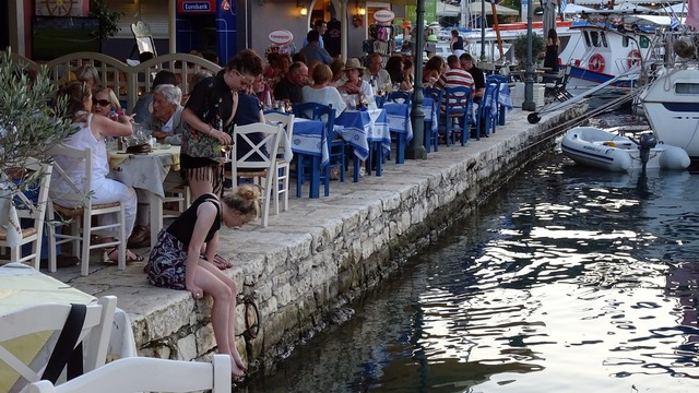 Greece kefalonia fiscardo, people.