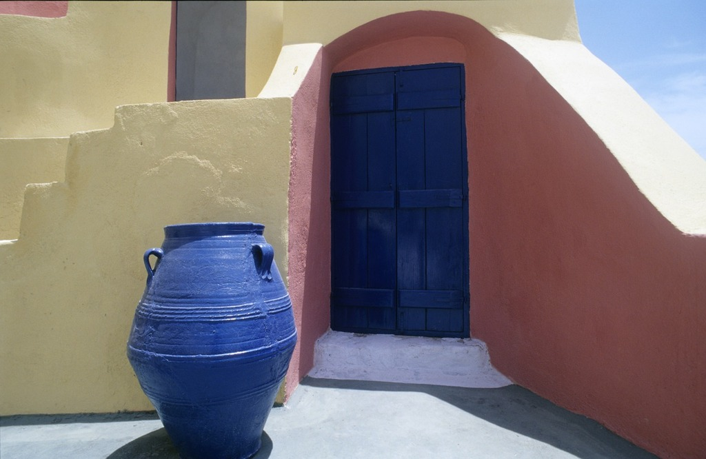 Greece vascular blue, architecture buildings.