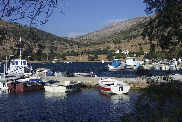 Greek harbor fishing.