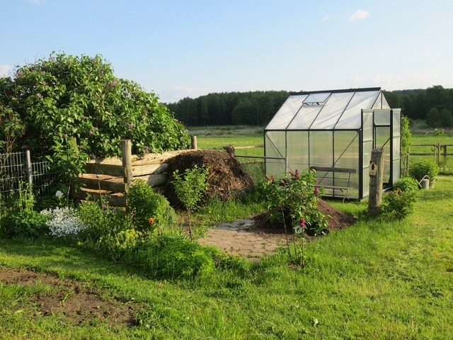 Greenhouse allotment garden shed, nature landscapes.