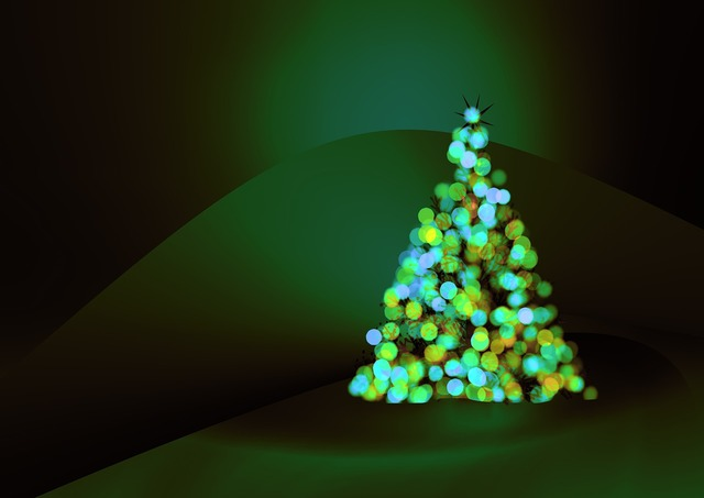 Greeting card christmas tree background, backgrounds textures.