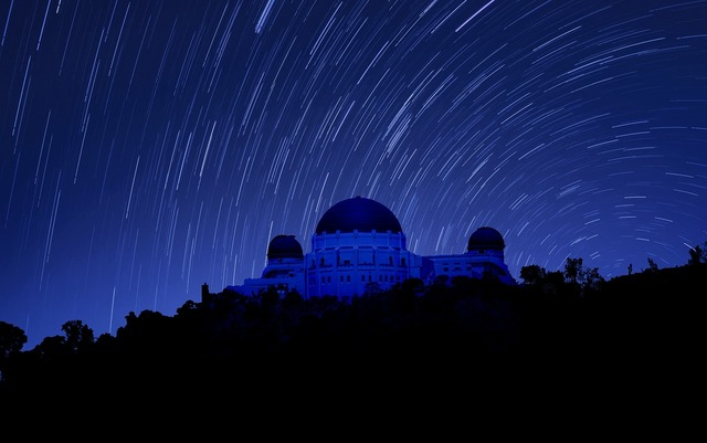Griffith observatory night photography los angeles.