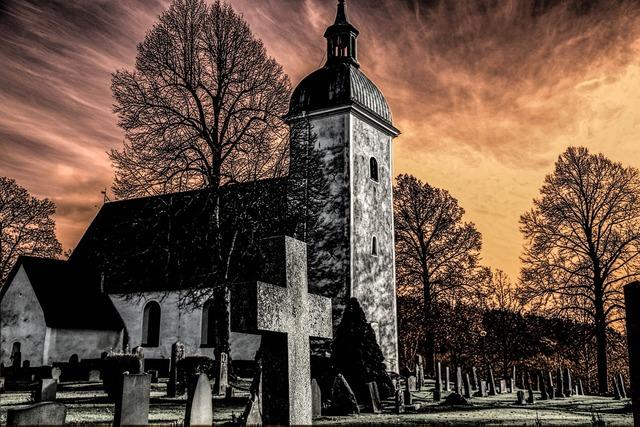 Grödinge church cemetery, religion.