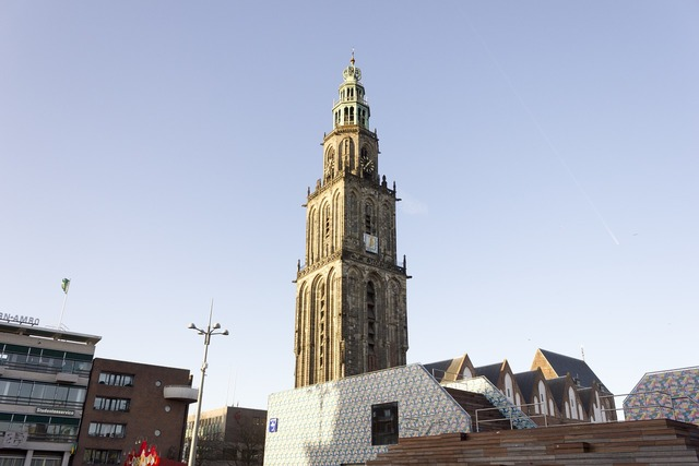 Groningen martini tower tower, architecture buildings.