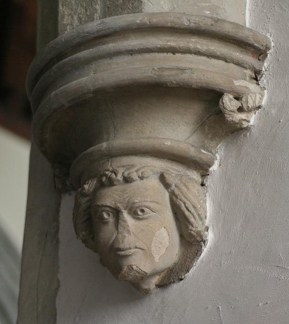 Grotesque carving masonry, religion.