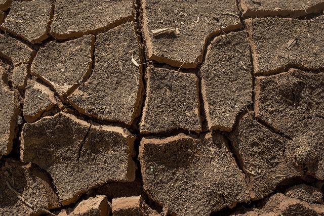 Ground dry earth.