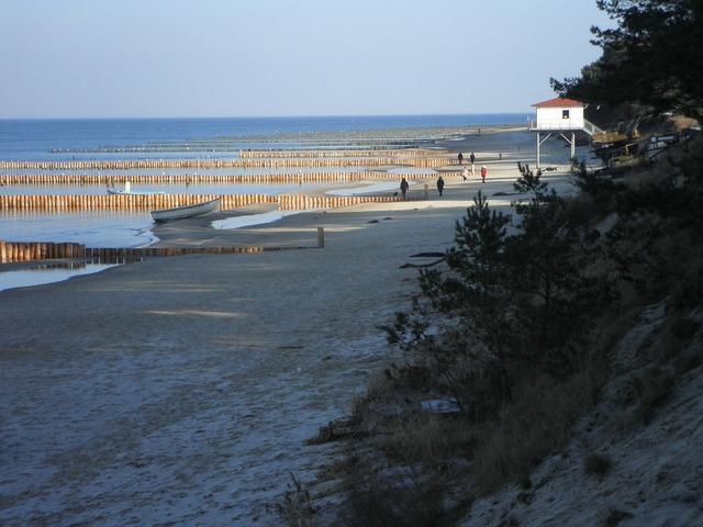 Groynes water structures wooden posts, travel vacation.