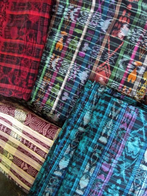 Guatemala fabric ikat, backgrounds textures.