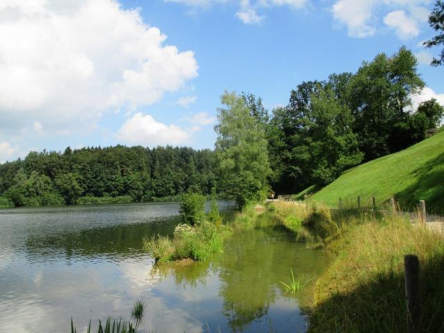 Guebsenbsee st gallen lake, nature landscapes.
