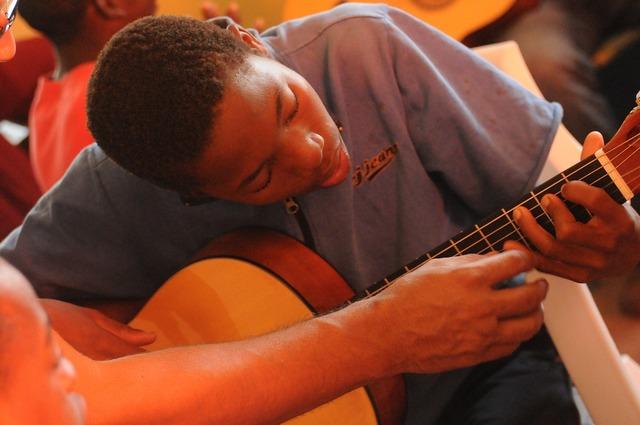 Guitar lessons africa black, music.