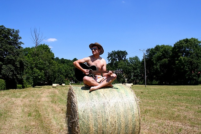 Guitar player musician acoustic guitar, music.