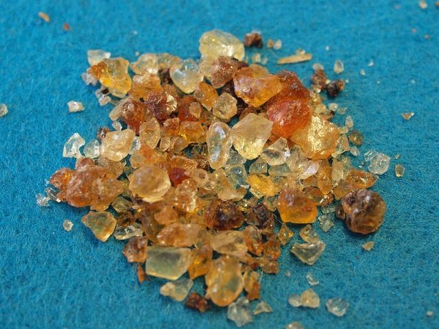 Gum arabic acacia resin binder.
