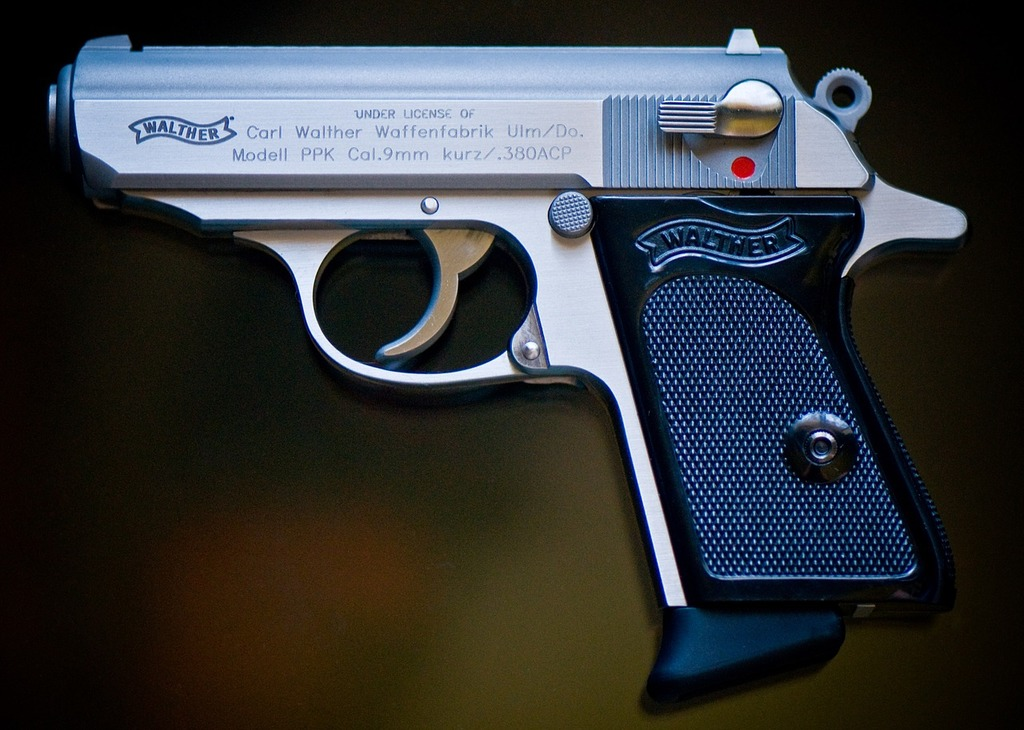 Gun firearm pistol.