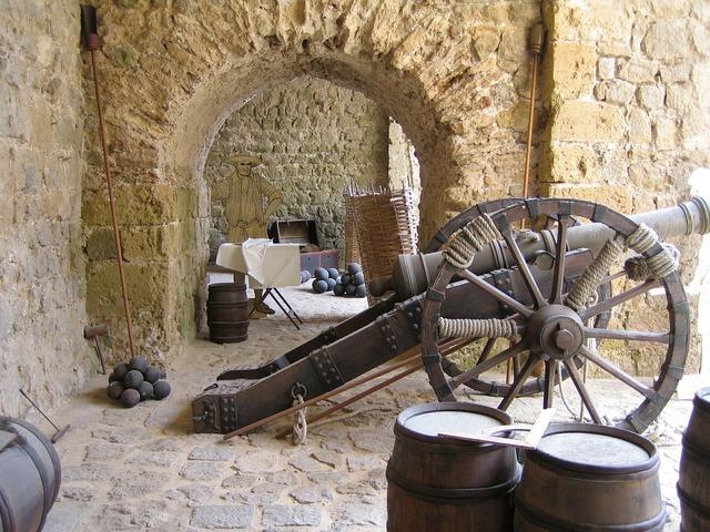 Gun ibiza castle.