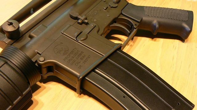 Gun m4a1 ar-15.