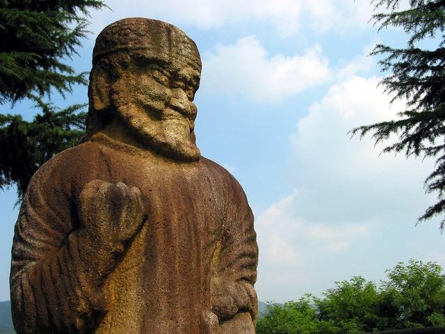 Gwaereung stone statue korea.