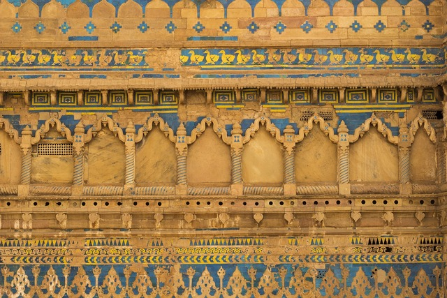 Gwalior fort in, architecture buildings.