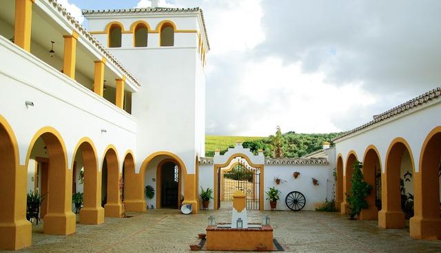 Hacienda andalusia spain, architecture buildings.