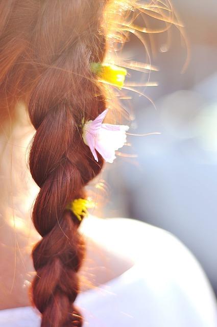 Hair braid flowers.