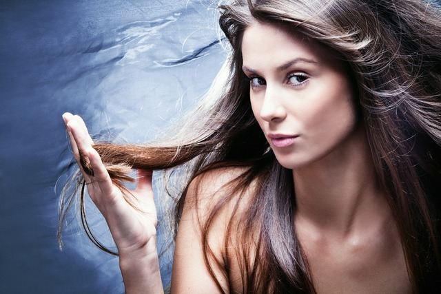 Hair model woman, beauty fashion.
