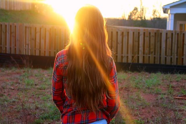 Hair sunlight happy, emotions.