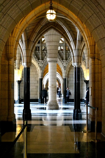 Hall columns interior, travel vacation.