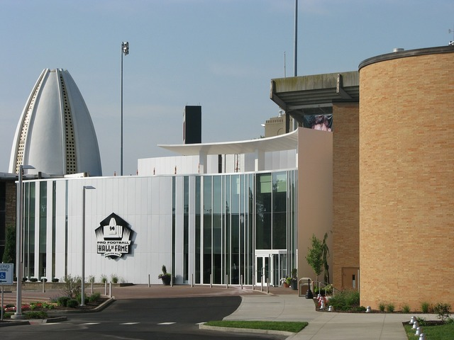 Hall of fame football building, sports.