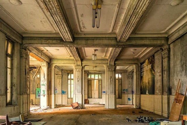Hall space lost places, architecture buildings.