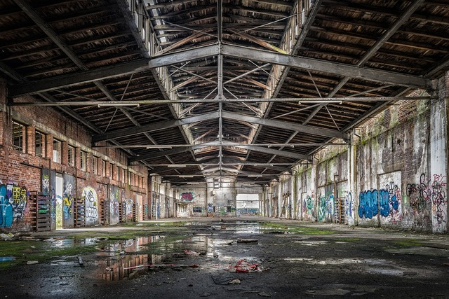 Hall stock lost places, industry craft.