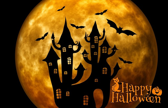 Halloween castle weird.
