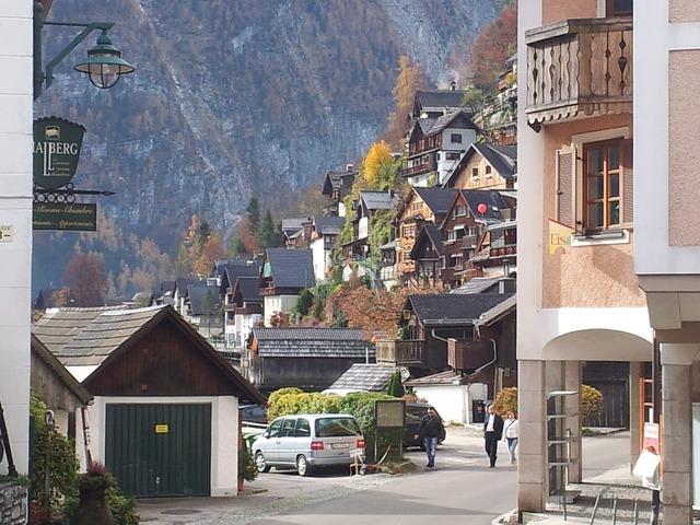 Hallstadt building austria, architecture buildings.