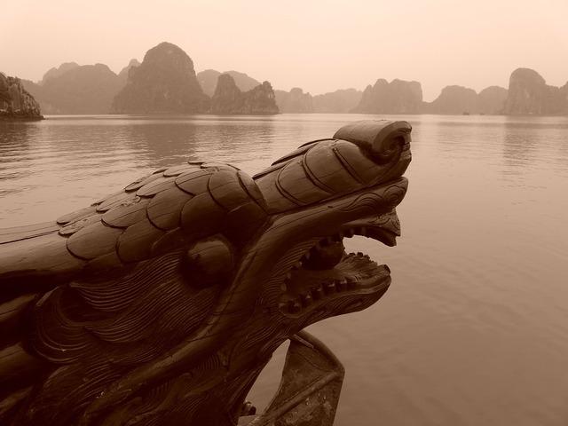 Halong bay vietnam dragon.