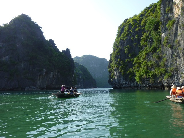 Halong vietnam mountains.