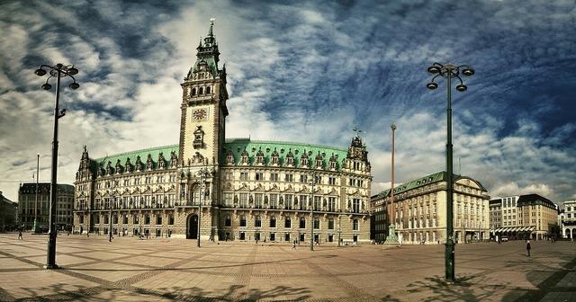 Hamburg city building, architecture buildings.