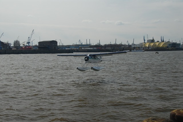 Hamburg port aircraft.