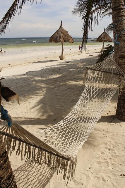 Hammock beach sea, travel vacation.